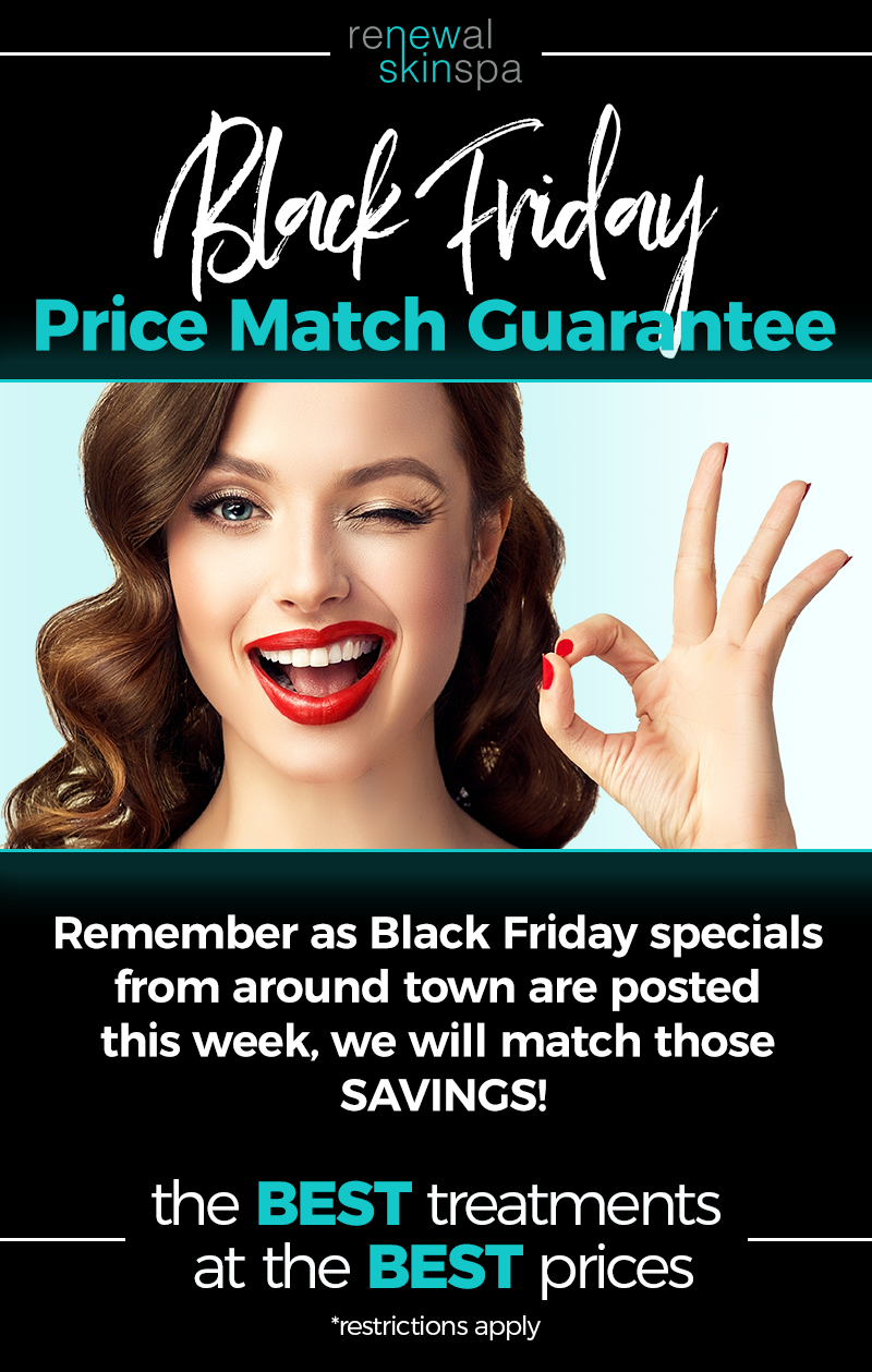 Renewal Skin Spa Black Friday Price Match Email Header